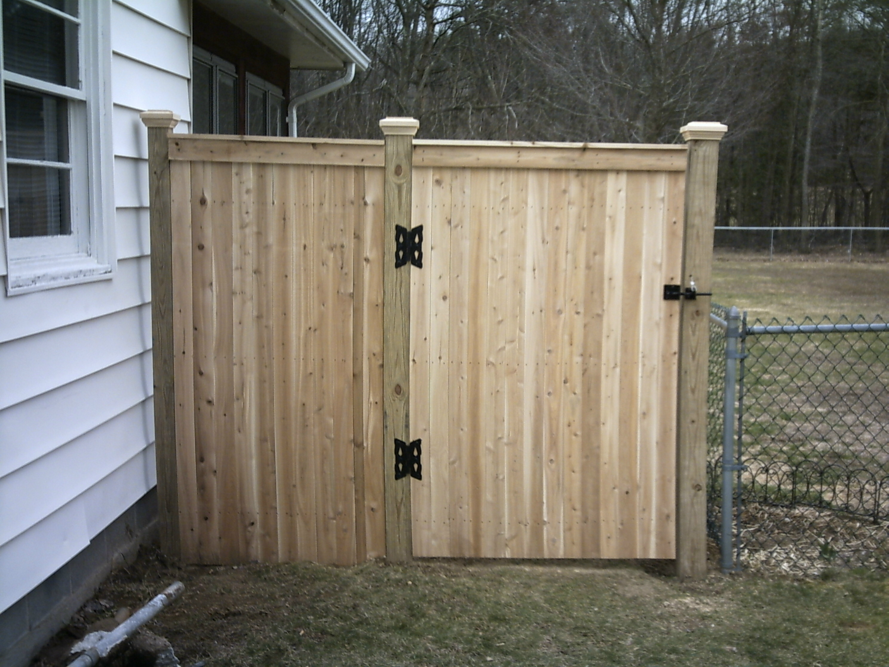 Wood Fence Gate 6 High Board Fence With 3